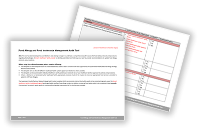 Food Allergy and Intolerance Management Audit Tool